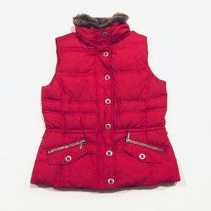 Eddie Bauer Sz Small Red Premium Goose Down Vest